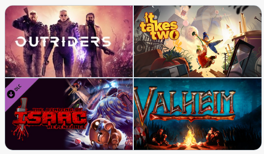 Steam'de haftanın çok satan oyunları:1. Outriders2. It Takes Two3. Binding of Isaac: Repentance4. Valheim5. Valve Index VR6. Horizon Zero Dawn7. Evil Genius 2: World Domination8. ESO: Crown Packs9. CS GO: Broken Fang DLC10.Cyberpunk 2077